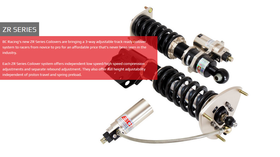 Nissan 350Z 03-09 Z33 BC-Racing Instelbare Verlagingsset / Schroefset  (Coilover Kit) [ZR]